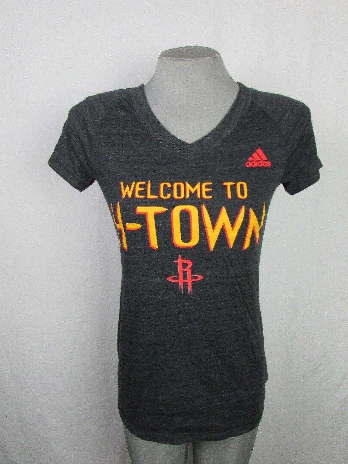 Houston Rockets Bienvenido a la camiseta para mujer H-Town Adidas NBA Black Medium 2XL