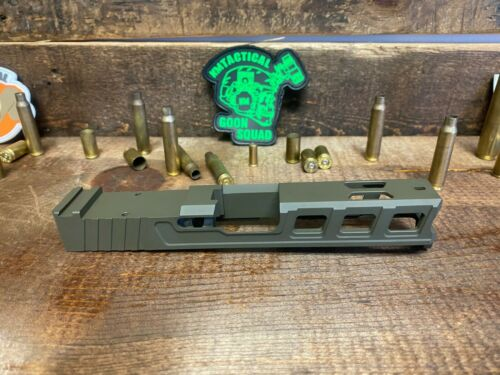 Raptor Series Slide for Glock 19 RMR Serrations /& Windows Ports Gen 3 OD Green