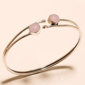 Silver-Overlay-Cuff-Bangel-Rose-Quartz-Handmade-Jewelry