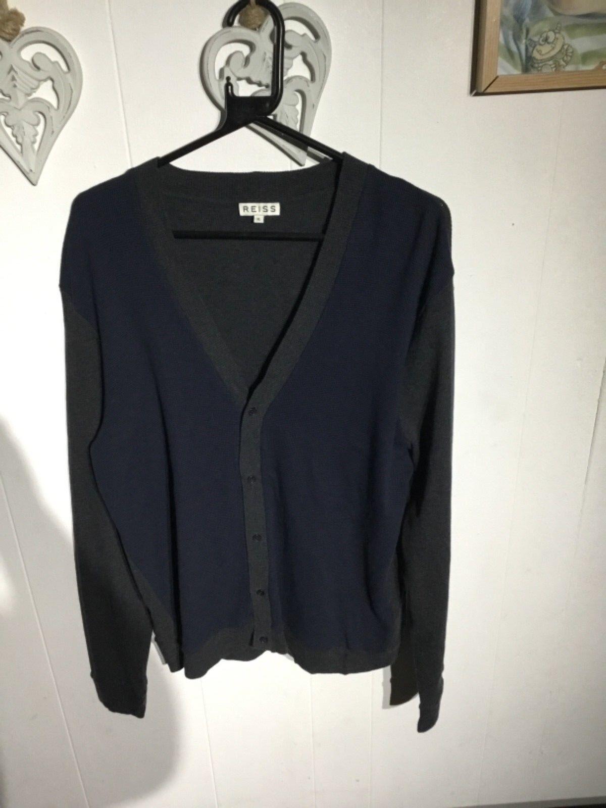 Men's Reiss Buttoned Cardigan size XL, 100% Cotton...
