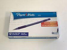Paper Mate 300 Ballpoint Pen, Blue, Medium (1.0 mm) (1760302)  12 pack