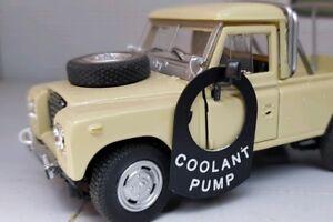 Land-Rover-Series-1-2-2a-2b-3-101-Metal-Tab-Tag-Decal-Label-Badge-Coolant-Pump