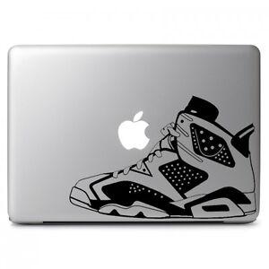 1c7287b2aa7c Air Jordan No. 6 Retro Shoes Decal Sticker for Macbook Air Pro Dell ...