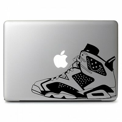 Air Jordan No. 6 Retro Shoes Decal Sticker for Macbook Air/Pro Dell HP Laptop