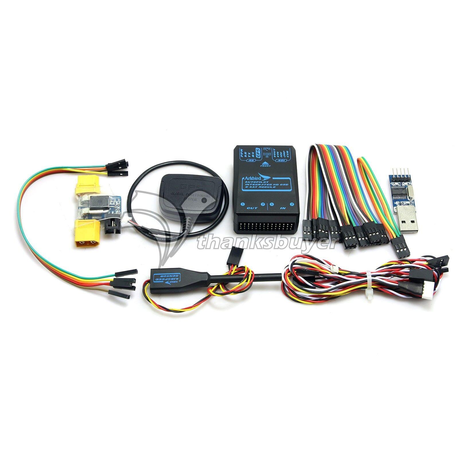 Control de vuelo ARKBIRD +M8N Gps + + medidor de corriente para Airspeed Medidor de ala fija vista en primera persona