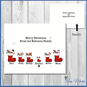 10-PERSONALISED-STOCKING-FAMILY-CHRISTMAS-CARDS-XMAS-GREETINGS-WITH-ENVELOPES