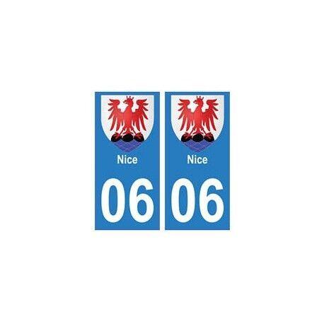 06 Nice autocollant plaque droits