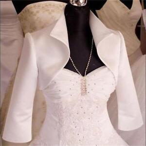Image Is Loading Satin Jacket Wedding Bridal Dress Bolero Shrug Coat