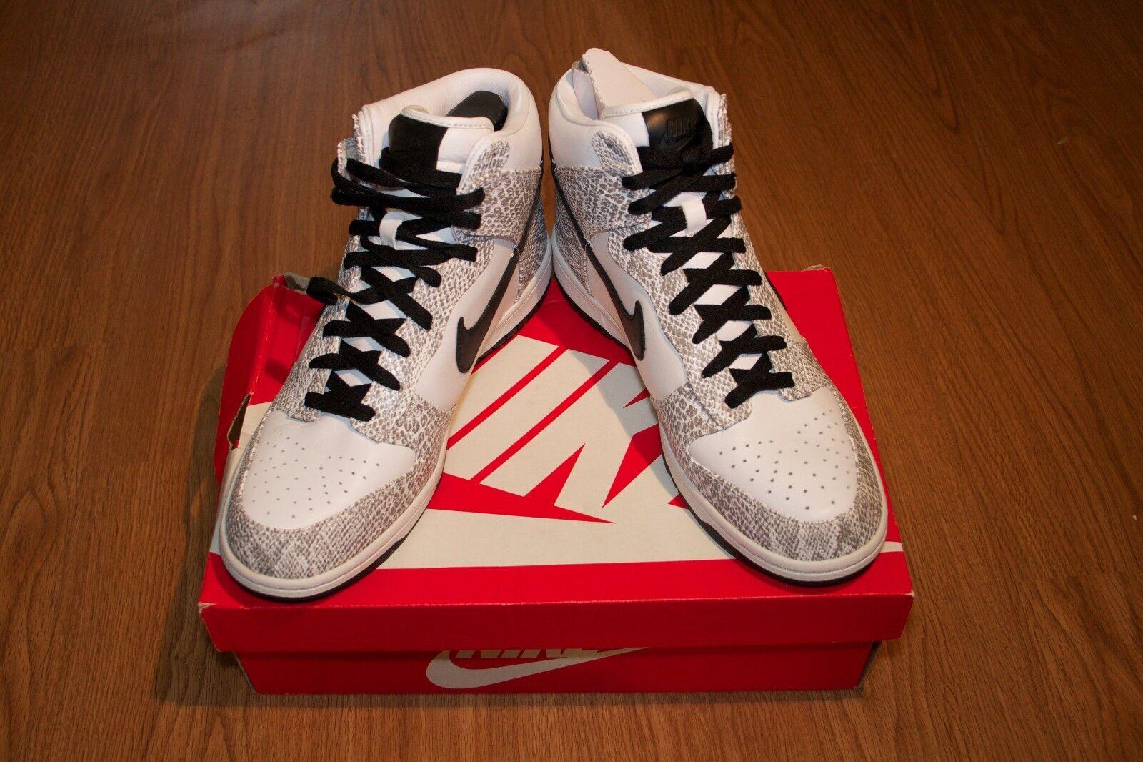 Men's Nike Dunk Premium Hi SP Cocoa Cocoa Cocoa Snake Skin Size 10.5 0ba19c