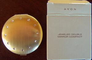 2003-Avon-034-JEWELED-DOUBLE-MIRROR-COMPACT-034-BRAND-NEW