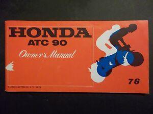 honda 1976 atc90 atc 90 new original owners manual h0489 ebay rh ebay com 1969 Honda ATC 90 1971 Honda ATC 90