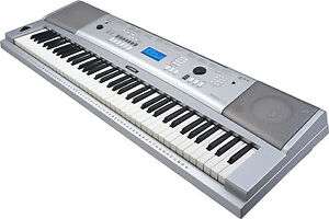 yamaha dgx 230 keyboard digital piano stand adapter 76 full sized keys new ebay. Black Bedroom Furniture Sets. Home Design Ideas