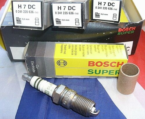 ONE NEW SET OF 4 H7DC Genuine Boxed Bosch Super Spark Plugs 0241235636-740.