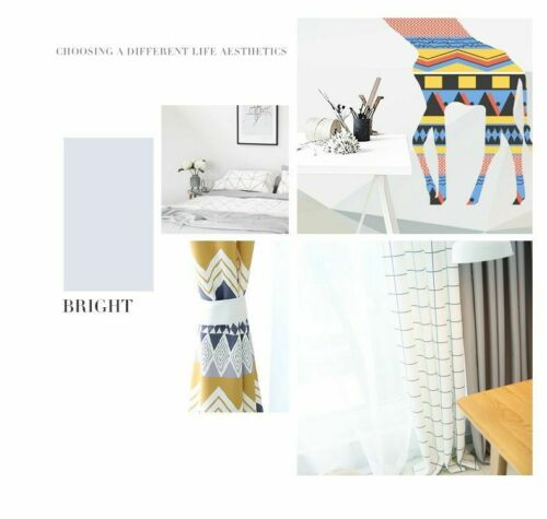 Geometric Curtain Contemporary Living Room Bedroom Shading Nordic Home Decor New