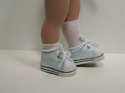 "White w//DK PINK Sport Tennis Doll Shoes For 10/"" Ann Estelle Sophie Patsy Debs"