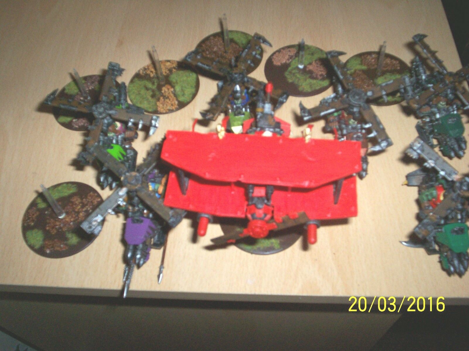 GAMES WORKSHOP ORK KOPTAS + RED BARON