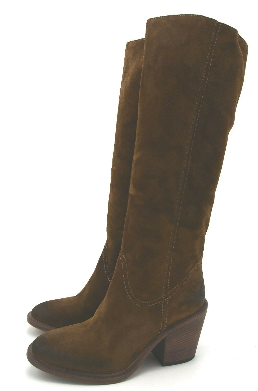 J6703 New Womens VC John Camuto Musa Safari Brown Leather Leather Leather Boot 6 M b0614a