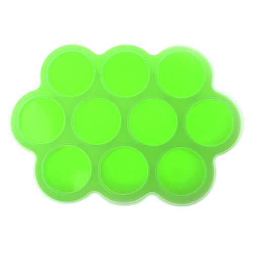 Eco Friendly Silicone Baby Food Freezer Storage Tray with Clip-on Lid