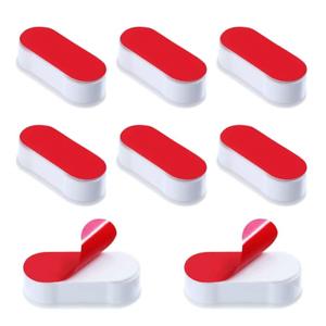 El asiento del inodoro memorias intermedias 8 Paquete De Asiento topes tapones Universal Para WC Adhesivo Cubierta