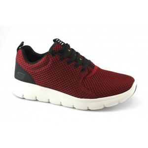 Details about Mens Boys Skechers Trainer Shoes Lace Up Red Navy Exercise Running Casual 52832