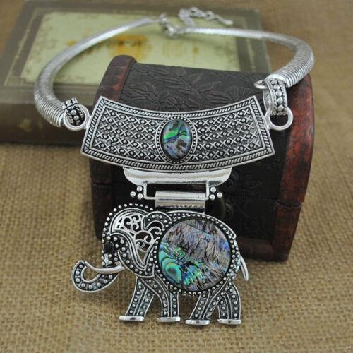 Femmes Maxi Alliage design vintage ELEPHANT chouette tour de cou collier pendentif jewely Cadeau