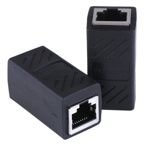 2 Pack RJ45 LAN connector inline Cat7//Cat6//Cat5e Ethernet Cable Extender*AdapGK