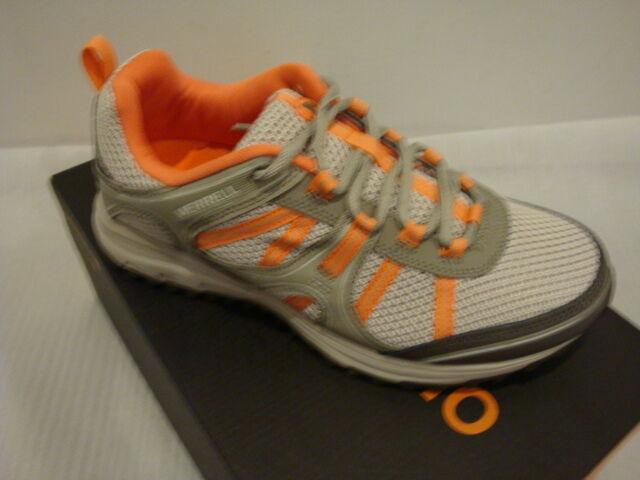 NIB Damens Merrell Trail Hace Mesh Hiking Sneakers Aluminum/Coral Größe 7.5