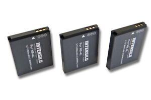 3St-original-intensilo-Akku-800mAh-fur-CANON-Digital-Ixus-220HS-230HS-NB-4L