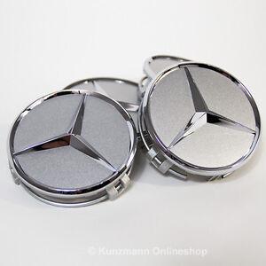 Original Mercedes-Benz Nabendeckel Radnabendeckel 4x B66470202 Titansilber NEU