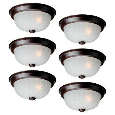 Project Source 6 Pack 10 In Bronze Flush Mount Ceiling Lighting Fixtures Lights 618125289066 Ebay