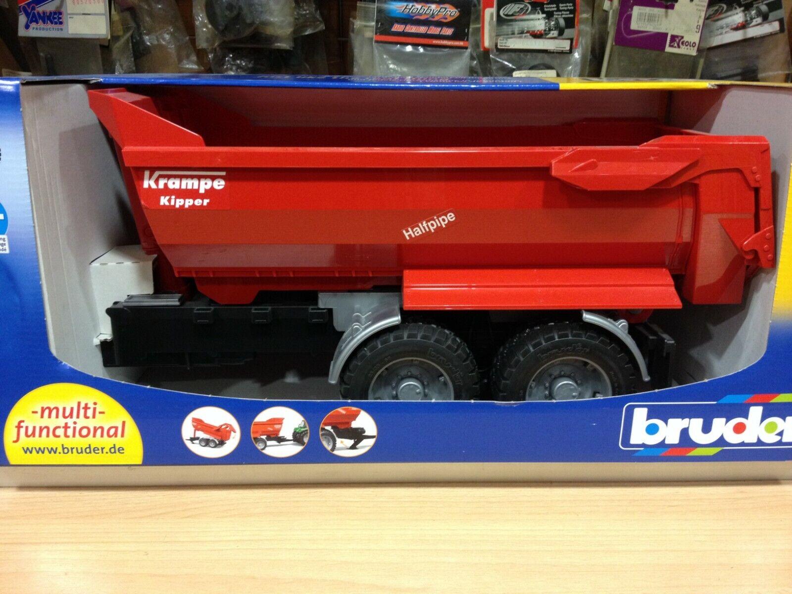 Siku Traktor Deutz Agrotron Krampe Halfpipe-Muldenkipper