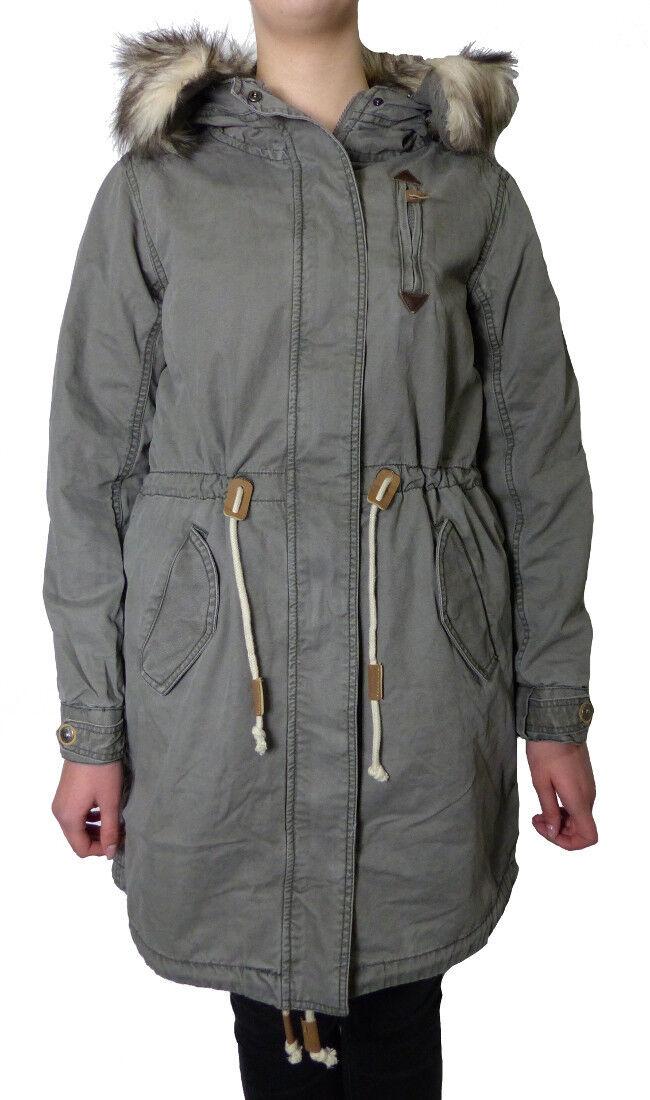 Timezone Damen Winterjacke Parka Übergang grün olive  Jacket