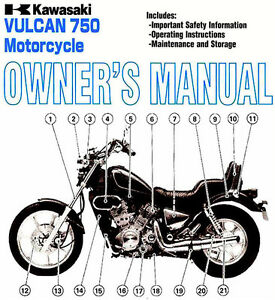 2003 kawasaki vulcan 750 motorcycle owners manual vulcan 750 rh m ebay ie service manual kawasaki vulcan 750 Kawasaki Vulcan 500