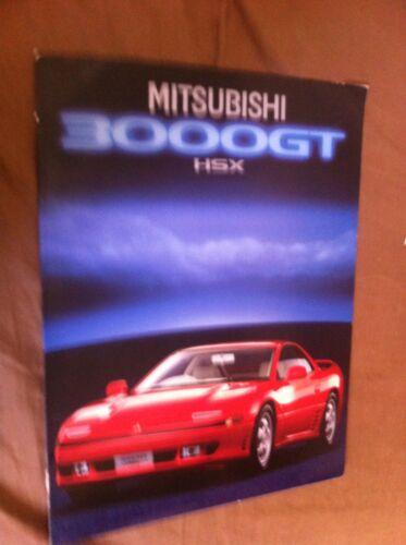 1990 MITSUBISHI 3000GT HSX COLOR BROCHURE CATALOG PROSPEKT