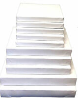 10 White Gift Boxes 3 Sizes: Shirt Lingerie Robe Apparel Packaging Value Pack