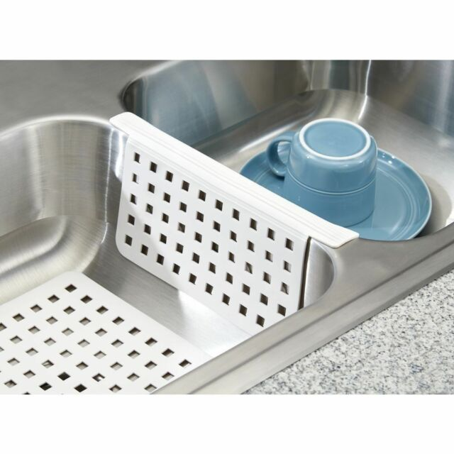 Bon White Plastic Kitchen Sink Saddle Divider Protector Dish Scratch Cushion  Grip