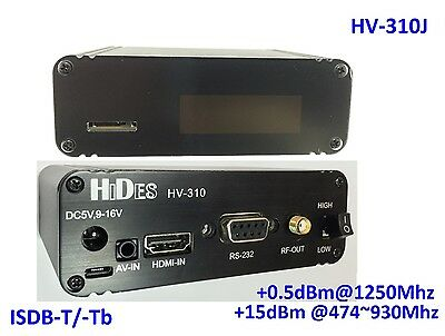 HV-310J FPV FullHD Video Transmitter, HDMI/ CVBS to ISDB-T/-Tb modulator
