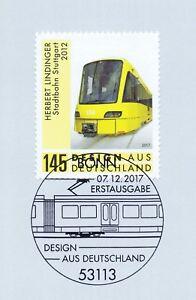 Rfa 2017: Design: Stuttgart Stadtbahn Nº 3349 Avec Bonner Cachet Spécial! 1902-afficher Le Titre D'origine
