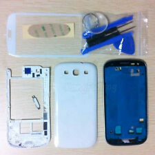 White Full Housing Case + Screen Glass Lens + Tools For Samsung Galaxy S3 i9300