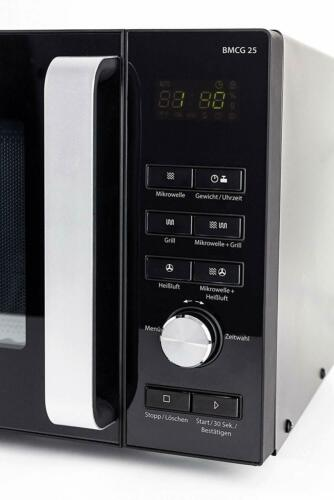 Caso BMCG 25 Design Micro-ondes M Grill et Air Chaud 6 marches 9 programmes Noir