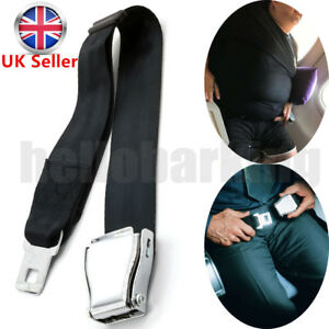 Adjustable Airplane Seat Belt Extension Extender Airline Buckle Aircraft Safe hb