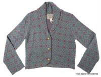 Nick & Mo Women's Short Cardigan Size Large Button Down Shawl Collar Sweater
