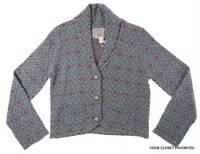 Nick & Mo Women's Short Cardigan Size Large Button Down Shawl Collar Sweater