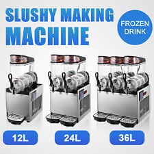 Vevor Commercial 12l24l36l Slush Machine Frozen Drink Juice Smoothie Ice Maker