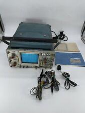 Vintage Tektronix 465 Oscilloscope With Probes Manual Accessories Read Desc