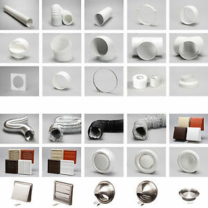 4 100mm plastic round kitchen ducting ventilation duct - Bathroom exhaust fan duct reducer ...
