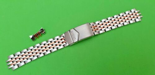 TISSOT Two TONE Bracelet 18mm Stainless STEELRose GOLD NOS