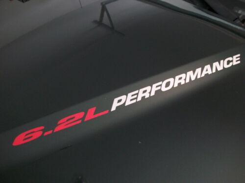 Hood sticker decals Chevrolet Camaro SS Silevrado GMC 6.2L PERFORMANCE pair