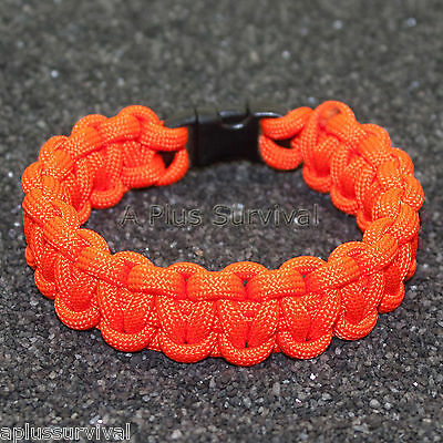 Turquoise Made in the USA 550 lb Type III Paracord Survival Rope Bracelet