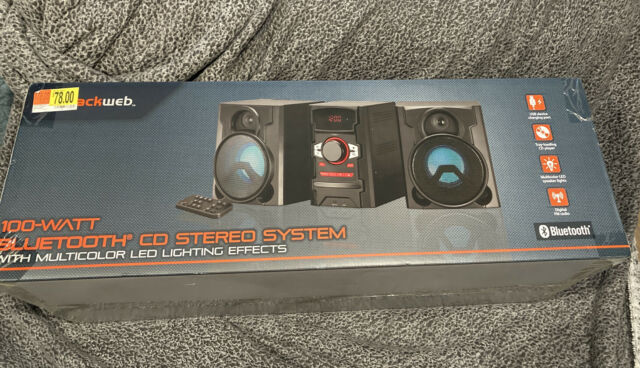 Blackweb Bwd19aaa06 100 Watt Bluetooth Cd Stereo System Fast For Sale Online Ebay